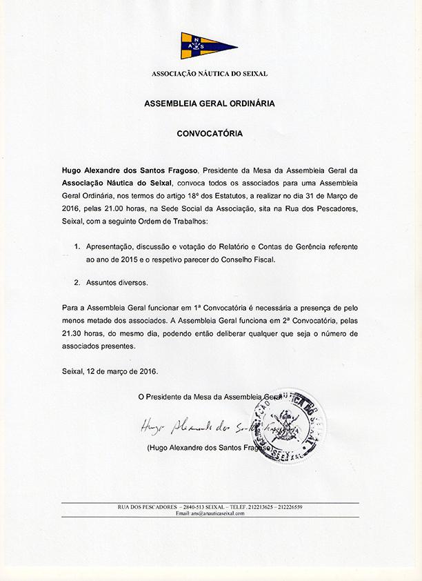 Assembleia Geral Ordinária 2016